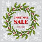 Bożenarodzeniowy sprzedaż plakat, specjalna oferta, rabat royalty ilustracja