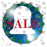 Bożenarodzeniowy sprzedaż znak, ikona, biały tło Obraz Royalty Free