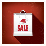Bożenarodzeniowy sprzedaży torba na zakupy pojęcia projekt dla Zdjęcie Royalty Free