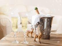 Bożenarodzeniowy szampan Obrazy Royalty Free