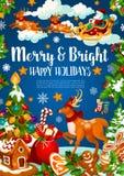 Bożenarodzeniowy sztandar Xmas i nowego roku wakacje royalty ilustracja