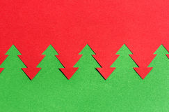 Bożenarodzeniowy tło czerwony i zielony papier Obrazy Stock