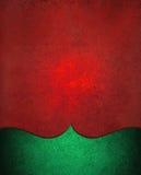 Bożenarodzeniowy tło w czerwieni z zielonym eleganckim wyginającym się rabatowym projektem Zdjęcie Royalty Free