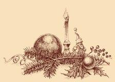 Bożenarodzeniowy tło w rocznika stylu ilustracji