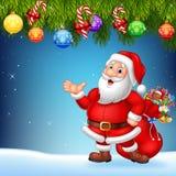 Bożenarodzeniowy tło z Święty Mikołaj przedstawiać ilustracji