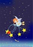 Bożenarodzeniowy tło z aniołem, royalty ilustracja