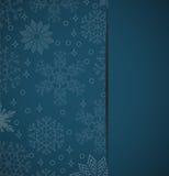 Bożenarodzeniowy tło z płatków śniegu elementami dla wakacyjnych kart Zdjęcie Royalty Free