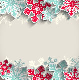 Bożenarodzeniowy tło z płatkami śniegu, zima Obraz Stock