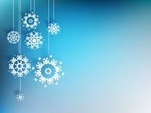 Bożenarodzeniowy tło z płatkiem śniegu. EPS 10 Obrazy Stock