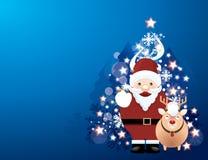 Bożenarodzeniowy tło z Santa Fotografia Royalty Free