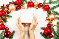 Bożenarodzeniowy trybowy pojęcie Świąteczny tło dla zima wakacji fotografia royalty free