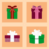 Bożenarodzeniowy ustawiający z prezentów pudełkami dla teraźniejszość ilustracji