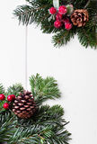 Bożenarodzeniowy wakacyjny ornament, biały tło Obraz Stock
