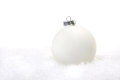 Bożenarodzeniowy Wakacyjny ornament w śniegu Obraz Stock