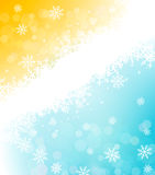 Bożenarodzeniowy wakacyjny tło z płatkami śniegu Zdjęcia Royalty Free