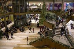 Bożenarodzeniowy wakacyjny zakupy centrum handlowe fotografia royalty free