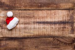 Bożenarodzeniowy wystrój na starego rocznika drewnianym tle obraz stock