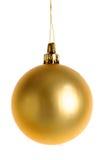 Bożenarodzeniowy złocisty bauble zdjęcie royalty free