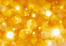 Bożenarodzeniowy złoty tło Obrazy Royalty Free
