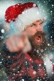 Bożenarodzeniowy zły Santa plenerowy Zdjęcia Stock