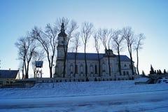 Bożenarodzeniowy zima kościół Obraz Royalty Free