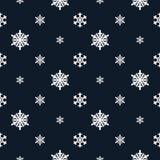Bożenarodzeniowych płatków śniegu Bezszwowy wzór ilustracji
