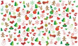 Bożenarodzeniowych symboli/lów świąteczny bezszwowy wzór royalty ilustracja