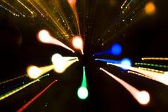 bożonarodzeniowe światła ślada Zdjęcia Stock