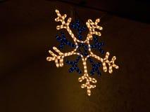 bożonarodzeniowe światła śnieg Zdjęcia Stock