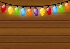 Bożonarodzeniowe światła żarówki Zdjęcia Stock