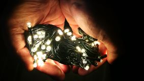 Bożonarodzeniowe Światła Fotografia Stock