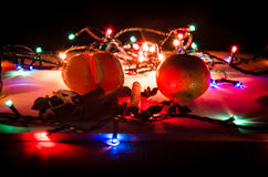 Bożonarodzeniowe Światła Zdjęcia Royalty Free