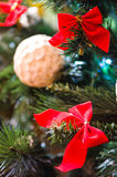 bożonarodzeniowe światła abstrakcjonistyczny drzewo zdjęcia royalty free