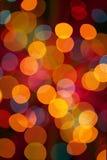 Bożonarodzeniowe światła abstrakcjonistyczny tło obraz stock