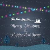 Bożonarodzeniowe Światła Abstrakta Tło Rozjarzony żarówka projekt Obraz Stock