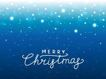 Bożonarodzeniowe światła błękitny tło dla Twój projekta ilustracja wektor