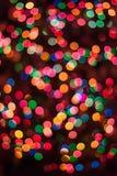 Bożonarodzeniowe światła bokeh Zdjęcia Stock