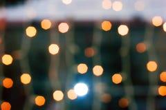 Bożonarodzeniowe światła bokeh Zdjęcia Royalty Free