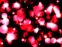 bożonarodzeniowe światła czerwień ilustracji