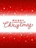 Bożonarodzeniowe światła czerwieni tło royalty ilustracja