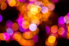 Bożonarodzeniowe światła defocused tło Zdjęcie Stock