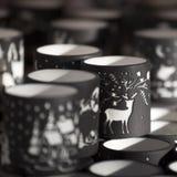 Bożonarodzeniowe światła dekoracje przy Southwark rynkiem otwartym w Londyn abstrakcjonistycznych gwiazdkę tła dekoracji projektu Zdjęcia Stock