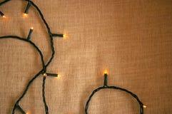 Bożonarodzeniowe światła deseniowy tło Zdjęcie Royalty Free
