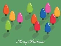 bożonarodzeniowe światła drzewni Zdjęcia Royalty Free