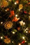 bożonarodzeniowe światła drzewni Obrazy Royalty Free