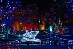 Bożonarodzeniowe światła festiwal Zdjęcie Royalty Free