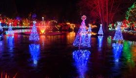 Bożonarodzeniowe światła festiwal Fotografia Royalty Free