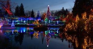 Bożonarodzeniowe światła festiwal Obraz Royalty Free