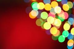 Bożonarodzeniowe światła girlanda, tło Zdjęcia Stock
