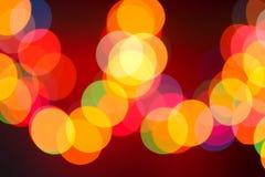 Bożonarodzeniowe światła girlanda, tło Fotografia Royalty Free